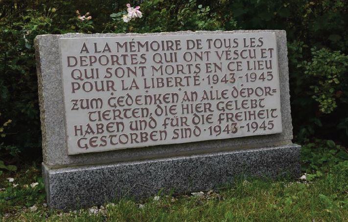 Tafel der französischen Häftlinge